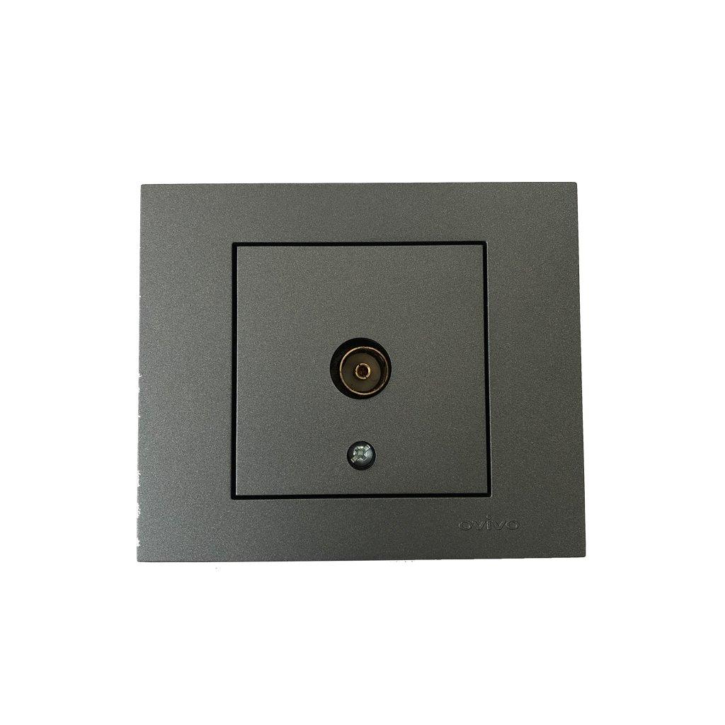 Штекер за телевизор OVIVO темно сива 400-225