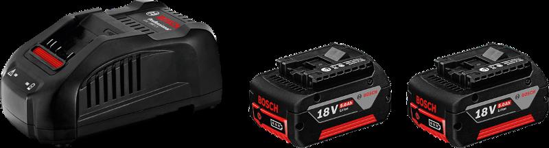 Полнач и Батерии 2xGBA 18V 5,0 Ah + GAL1880CV