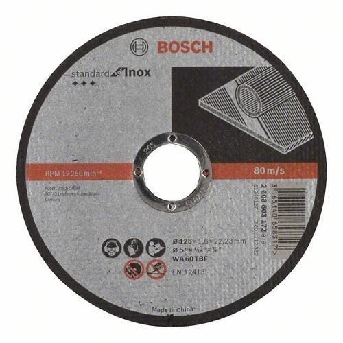 Камен за метал 125x1.6 Bosch inox