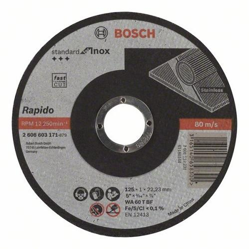 Камен за метал 125x1 Bosch inox