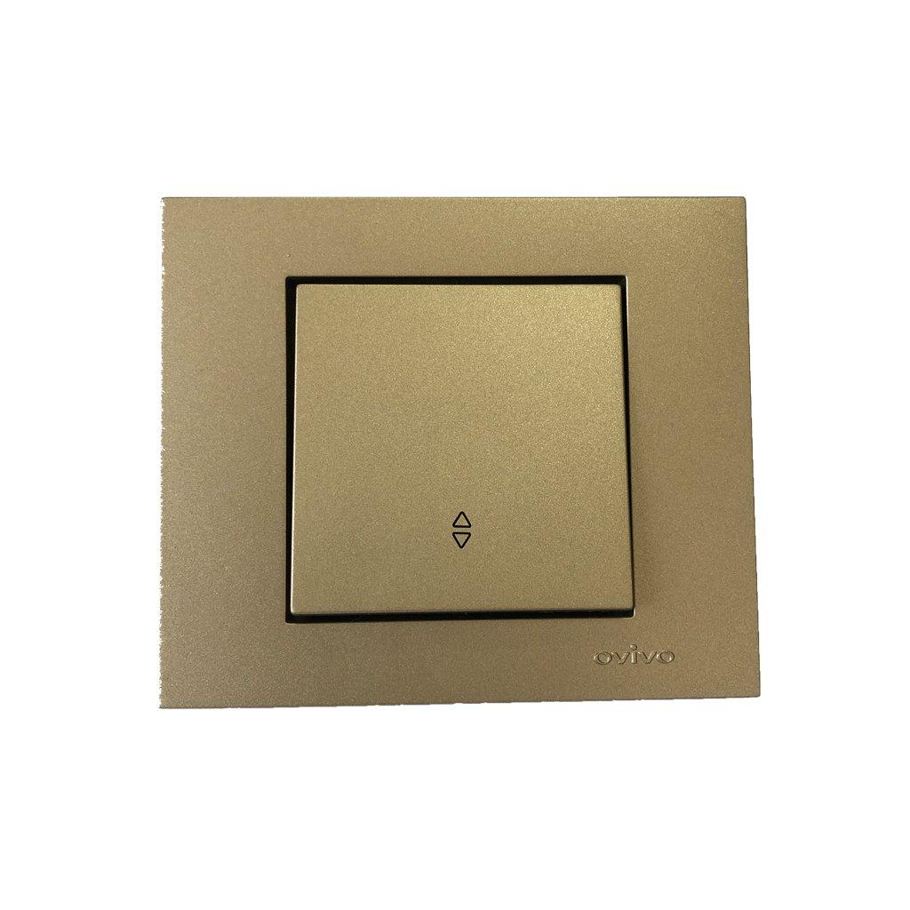 Прекидач наизменичен ОВИВО титаниум 400-209