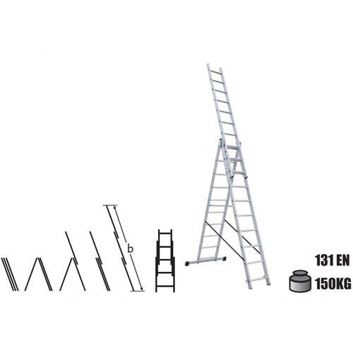 Комбинирани алуминиумски скали 3x10 - 6.52m